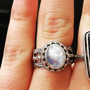 Jewelry - 💍Moonstone sterling silver ring